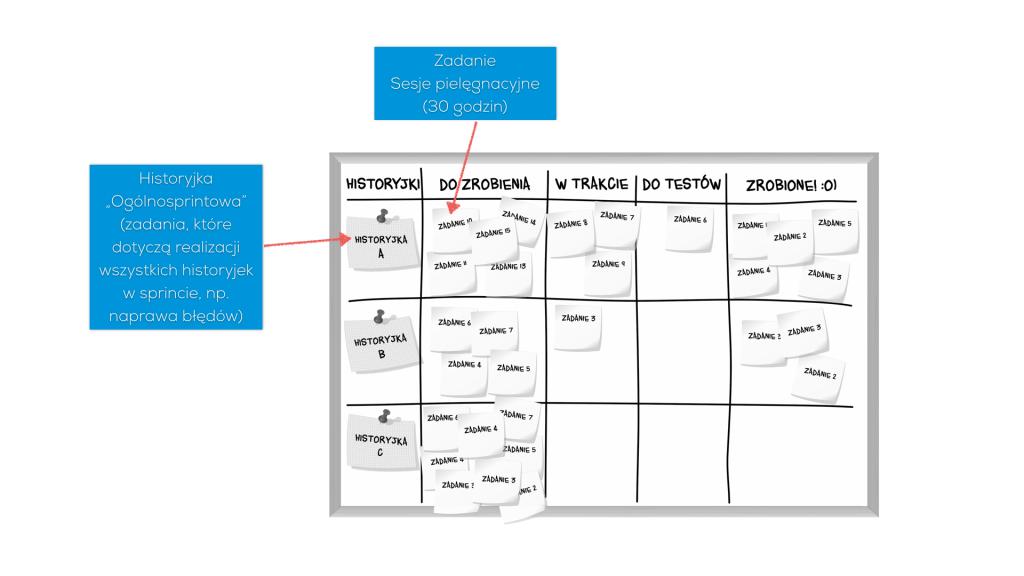 Planowanie sesji pielęgnacyjnych w sprincie